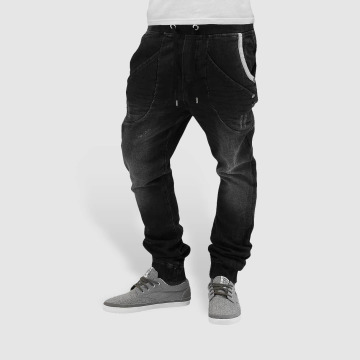Red Bridge Jogginghose Jeans schwarz
