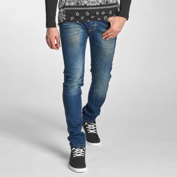 Red Bridge Slim Fit Jeans Washed modrá