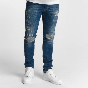 Red Bridge Slim Fit Jeans Inside Out Destroyed modrá