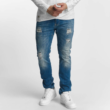 Red Bridge Straight fit jeans Ripped Patches blauw