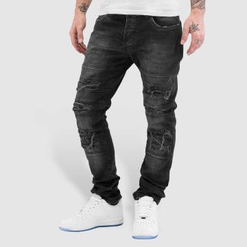 Red Bridge Straight fit jeans Destroyed zwart