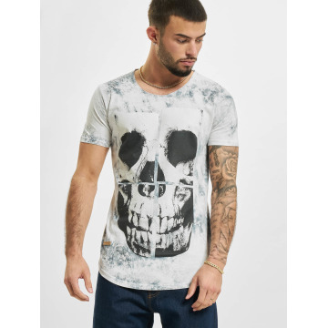 Red Bridge T-Shirt Skull gris