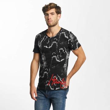 Red Bridge T-Shirt Howling Wolf schwarz