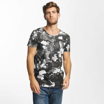Red Bridge t-shirt Splatter Camo zwart