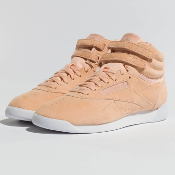Reebok Baskets Freestyle Hi Nubuk rose