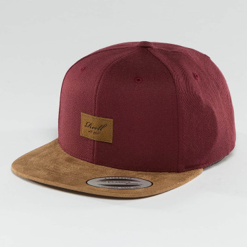 Reell Jeans Casquette Snapback & Strapback Suede 6 Panel rouge