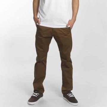 Reell Jeans Chinot/Kangashousut Straight Flex Chino ruskea