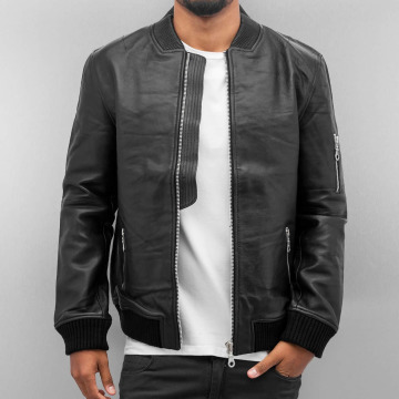 Religion Leather Jacket Rebel black