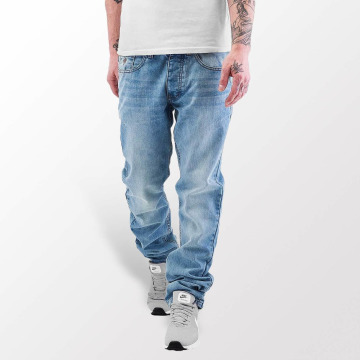 Rocawear Straight Fit Jeans Leather Patch blå