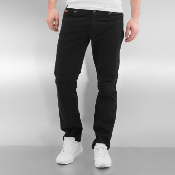 Rocawear Straight Fit Jeans Quilted schwarz