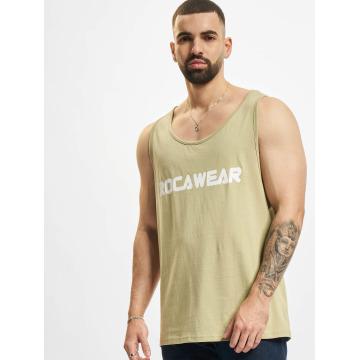 Rocawear Tank Tops Color Block khaki