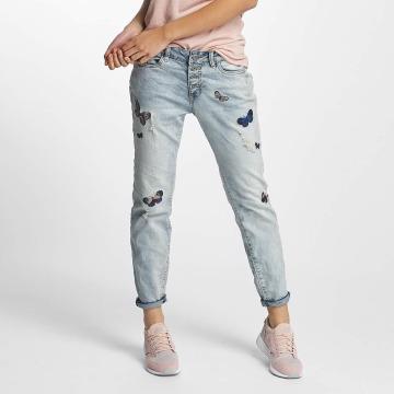 Rock Angel Jeans larghi Rosie Badges blu