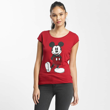 Rock Angel T-Shirt Mickey Mouse rouge