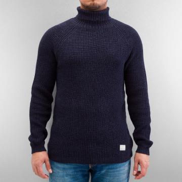 Selected Jumper Brick Turtle Knit blue