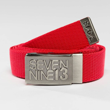 Seven Nine 13 Cinturón Jaws Stretch rojo