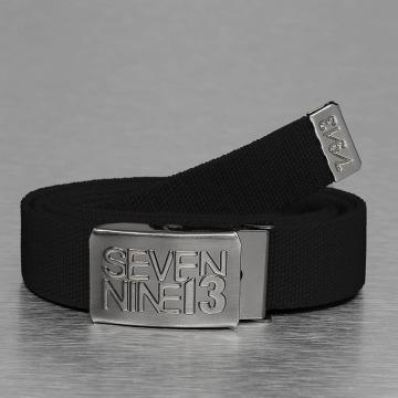 Seven Nine 13 Gürtel Jaws Stretch schwarz