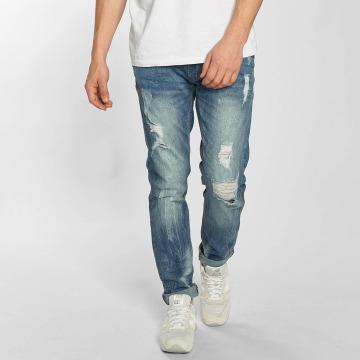 SHINE Original Dżinsy straight fit Destroy niebieski