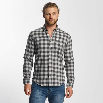 SHINE Original Hemd Checked Twill grau