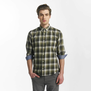 SHINE Original Hemd Fernando Grunge Check grün