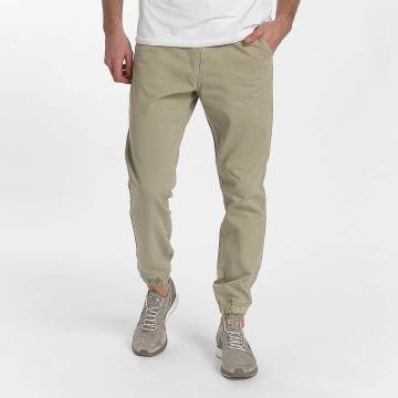 SHINE Original Pantalon chino Drop Crotch beige