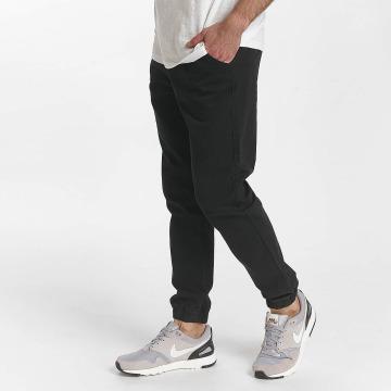 SHINE Original Pantalon chino Drop Crotch noir
