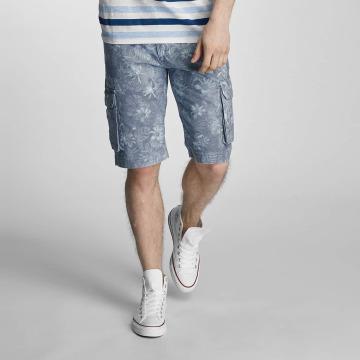 SHINE Original Shorts Long Printed blå