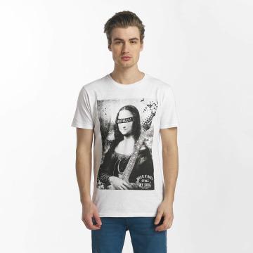 SHINE Original T-Shirt Collin Denim Rebel Print blanc