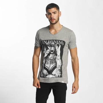 SHINE Original T-shirts Print grå