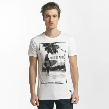 SHINE Original T-shirts Lupe Palm Print hvid