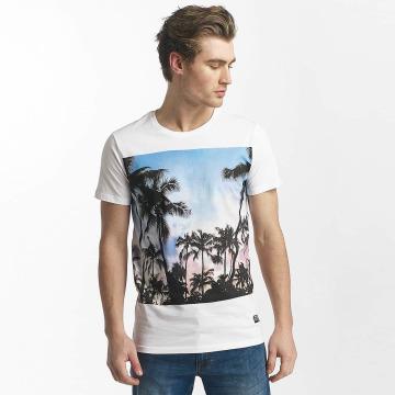 SHINE Original T-Shirty Lupe Palm Print bialy