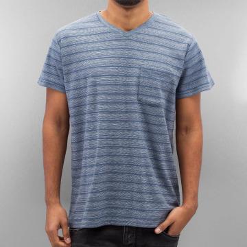 SHINE Original T-Shirty Inside Out Stripe niebieski