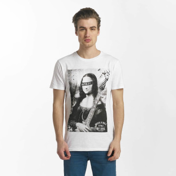 SHINE Original T-skjorter Collin Denim Rebel Print hvit