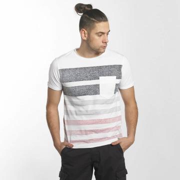 SHINE Original T-skjorter Faded Stripe hvit