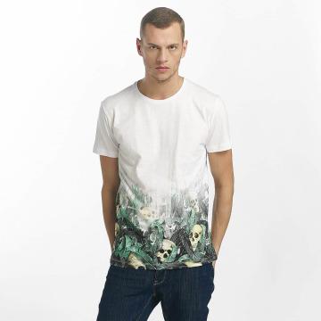 SHINE Original T-skjorter Leonard Gradient Skull Print hvit