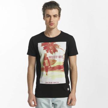 SHINE Original T-skjorter Lupe Palm Print svart
