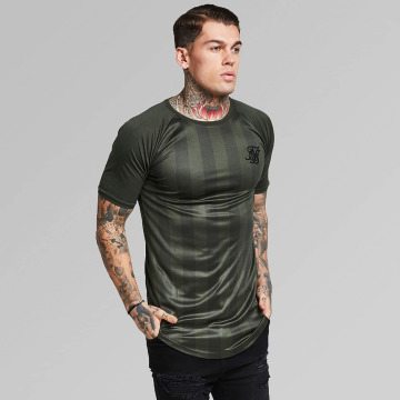 Sik Silk T-shirts Shadow Stripe khaki
