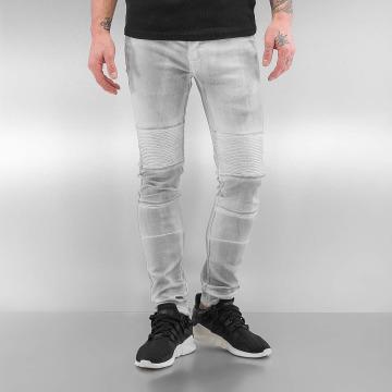 Sixth June Jeans slim fit Biker bianco