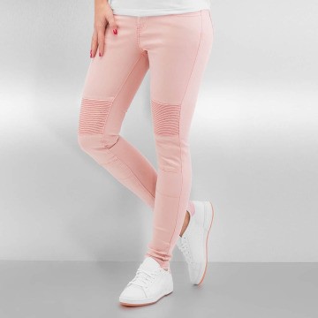 Sixth June Jeans slim fit Biker rosa chiaro