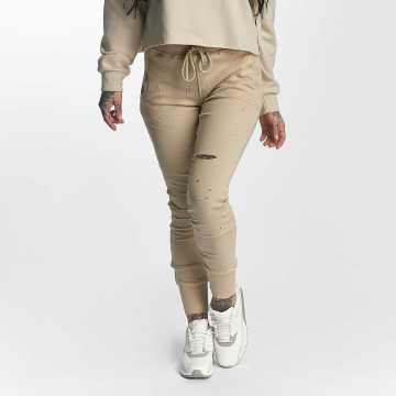 Sixth June Jogginghose Distressed beige