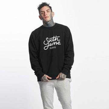 Sixth June Pullover Classic Oversize Logo schwarz