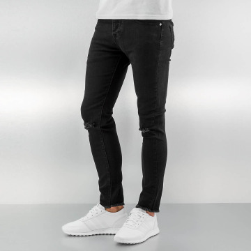 Sixth June Skinny Jeans Knee Cut black