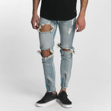 Sixth June Skinny jeans Destroyed blauw