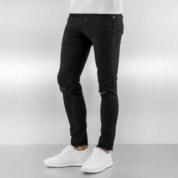 Sixth June Skinny Jeans Knee Cut czarny