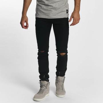 Sixth June Skinny Jeans Skinny Destroyed czarny