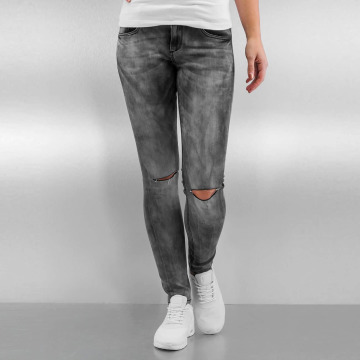 Sixth June Skinny Jeans Tie and Dye grå