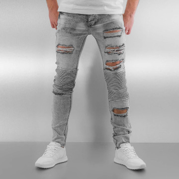 Sixth June Skinny jeans Radge Biker grijs