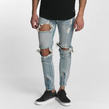 Sixth June Skinny Jeans Destroyed niebieski
