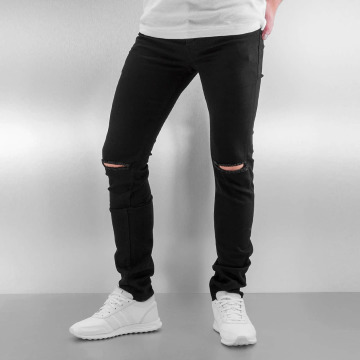 Sixth June Skinny Jeans Opened On Knee schwarz