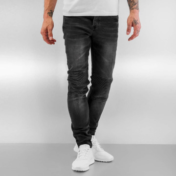Sixth June Skinny jeans Biker zwart