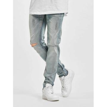 Sixth June Slim Fit Jeans Destroyed Washed blå